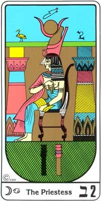 La Sacerdotisa (El Papa) en el Tarot Egipcio Kier
