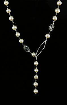 Pearl Lariat - Biba Design Jewelry