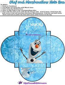 Olaf Note Box | Free Printables for the Disney Movie Frozen | SKGaleana