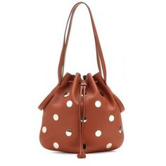 Polka dots :) Tod's - Secchiello embellished leather bucket bag #shoulderbag #covetme #tod's