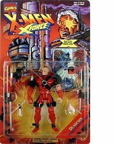 X-Men X-Force 1995 DEADPOOL action figure & collector card by TOY BIZ Toy Biz