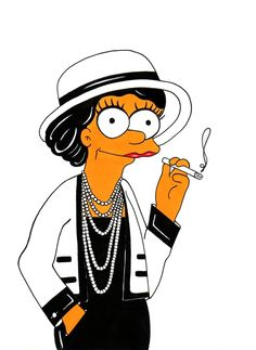 Marge Simpson Loves Coco Chanel. Fashion Simpsons Humor Chic by aleXsandro Palombo