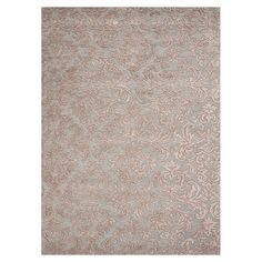 Hand-tufted wool and art silk rug with an acanthus leaf motif.  Product: RugConstruction Material: 70% Wool and ...