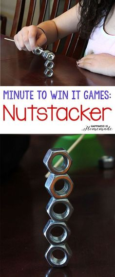 These 10 Minute to Win It games were perfect for all ages challenging enough for older children, but easy enough for everyone to join in the fun! Hysterical silly fun for everyone!