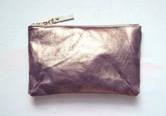 G R A P E METALLIC Leather Clutch Gold by GiftShopBrooklyn on Etsy, $88.00
