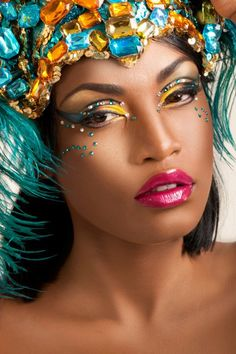 7ce96379cfb Nice and creative carnival makeup Carnival Makeup Caribbean, Samba Costume,  Love Makeup, Kids