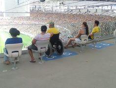 Espaço para cadeirantes