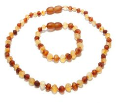 Genuine Raw Baltic Amber Beads Baby Teething Necklace by BLTAmber