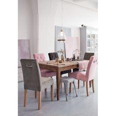 Klassisch Dezent In Luxuriöser Ausführung. Stuhl Im Chesterfield Look.  Bezug In Roséfarbenem Antiksamt