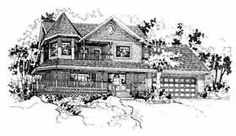 My Dream House. Been looking at the floor plan for 15 years. Someday...  Farmhouse  Victorian   House Plan 91053
