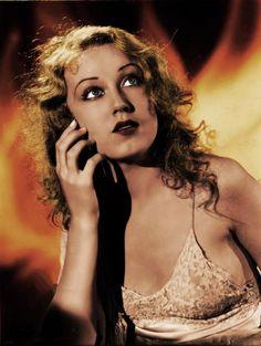 "Fay Wray and ""King Kong"" publicity photo tinted"