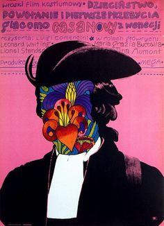 """Marek Mosinski. 1972. Poster for """"Infanzia, vocazione e primo esperienze di Giacomo Casanova, veneziano"""""""