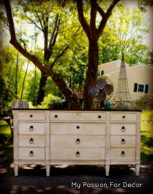 My Passion For Decor: Craigslist Dresser...From Old And Run Down To Pretty And Sweet