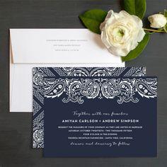 Paisley Chic Wedding Invitations by Emily Crawford | Elli