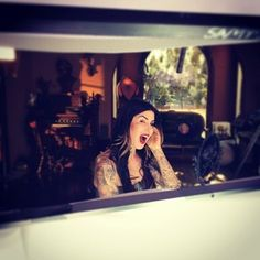 Starting the year with Kat. [January 2014 via Daniel] Kat von D