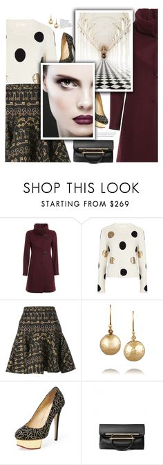 """""""How to Rock a Burgundy Coat!"""" by fashionbrownies ❤ liked on Polyvore featuring sass & bide, Dolce&Gabbana, Ippolita, Charlotte Olympia and Salvatore Ferragamo"""