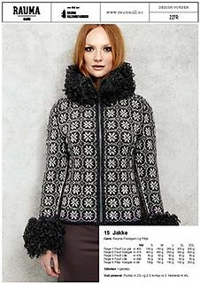 Knitted jacket - design by Bente Presterud for Rauma Garn Gilets, Knit Jacket, Knitting Designs, Knit Crochet, Fur Coat, Places, Pattern, How To Make, Jackets