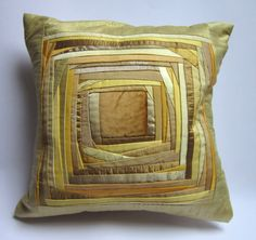 Pillow Case Quilted Pillow Case Patchwork Pillow Case Designers Pillow Case Yellow Pillow Cover Cushion Cover Hostess Gift Inch : Mother's Day Gift Pillow Case Designers by DzintrasPatchworkArt Yellow Pillow Covers, White Pillow Cases, Yellow Pillows, Throw Pillows, Applique Cushions, Patchwork Cushion, Quilted Pillow, Quilt Pillow Case, Yellow Quilts