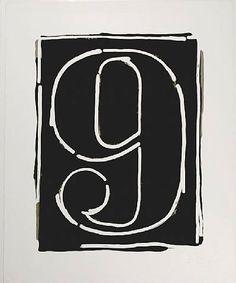 Black Numeral 9 by Jasper Johns