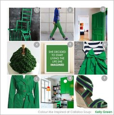 Colour Inspiration - Kelly Green at Callaloo Soup copy Colour Inspiration, Kelly Green, Knits, Envy, Color Schemes, Soup, Colors, Pretty, Happy