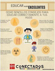8 Consejos para Educar mejor a los Hijos | #Infografía #Educación