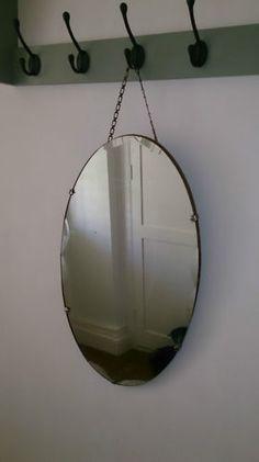 vintage mirrors- hang on old hooks