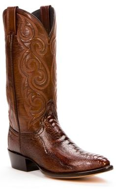 Dan Post ostrich leg boots - medium toe