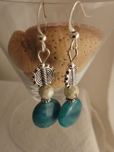 A personal favorite from my Etsy shop https://www.etsy.com/listing/185353370/handmade-earring-blue-agate-jasper