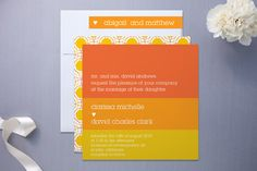 Summer Sun Wedding Invitations