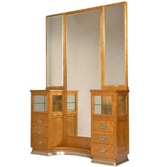 | Viennese Art Nouveau Dressing Table with Mirror