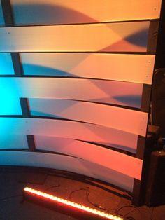 Warped Weave - Church Stage Design Ideas - Scenic sets and stage design ideas from churches around the globe. Tv Set Design, Stage Set Design, Church Stage Design, Screen Design, Wall Design, Design Ideas, Fireplace Beam, Concert Stage Design, Church Interior Design