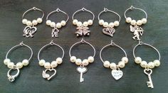 Wedding Guest Favors Wine Glass Charms by GracefulThingsDecor Great idea for your winery wedding!!