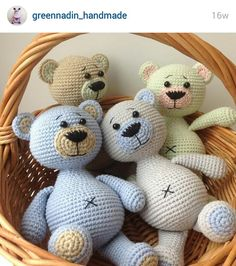 Instagram. PICTURE ONLY for inspiration. Crochet amigurumi bears