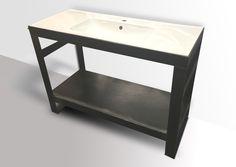 INDUSTRIAL STEEL BATHROOM VANITY WASH STAND - MODERN FURNITURE AND INDUSTRIAL…