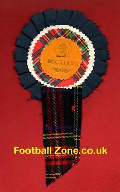 Scotland Football Rosette (1970s)