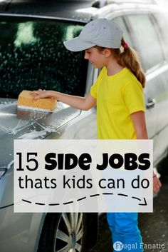 Are you trying to teach your child the value of the dollar? Check out this list of 15 side jobs that kids can do to earn some extra cash.