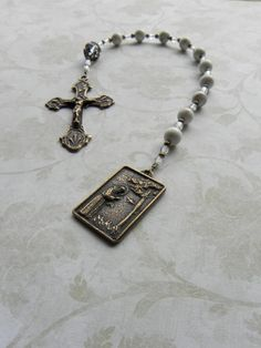 St Francis Of Assisi Catholic Pocket Rosary Chaplet by FaithBeads, $38.00