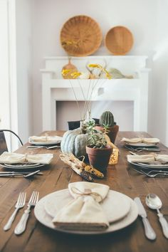 Thoughts from Alice: Rustic Bohemian Thanksgiving Tablescape