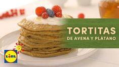 Tortitas de Avena y Plátano - Recetas BIO Tortilla Sana, Crepes, Breakfast Desayunos, Sweet And Salty, Bread, Food, Youtube, Torte Recipe, Sweets