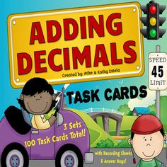 There is a total of one hundred (100) task cards in this pack divided into three (3) sets. It contains problems with varying levels of difficulty which will provide excellent practice to students at all skill levels. Recording Sheets and answer keys included!