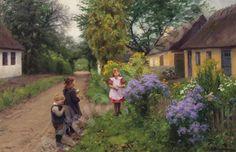 Children Playing ~ Hans Andersen Brendekilde ~ (Danish: 1857-1942)