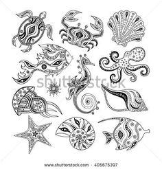 Collection of cartoon sea creatures isolated on white background. Set of marine … Jellyfish Quotes, Jellyfish Facts, Jellyfish Drawing, Jellyfish Painting, Jellyfish Tank, Jellyfish Tattoo, Jellyfish Light, Pink Jellyfish, Jellyfish Aquarium