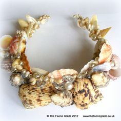 Mer Fae Mermaid Sea Fairy Ocean Shell Pearl Crystal Crown Tiara