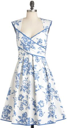 Modcloth Wrapped in Joy Dress in Blue (floral) - Lyst