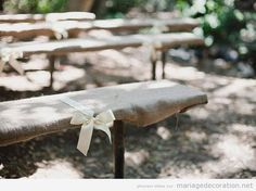 Diy outdoor wedding cheap bridesmaid gifts ideas for 2019 Diy Wedding Benches, Diy Outdoor Weddings, Wedding Seating, Wedding Ceremony, Picnic Table Wedding, Rustic Bench, Rustic Outdoor, Rustic Chic, Outdoor Seating