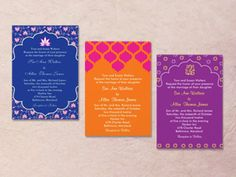 Hindu Color Palette | colorful indian wedding invitation palettes