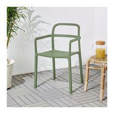 YPPERLIG Armchair, in/outdoor – green – IKEA – Keep up with the times. Ikea Outdoor, Outdoor Chairs, Outdoor Decor, Indoor Outdoor, Adirondack Chairs, Balcony Furniture, Outdoor Dining Furniture, Ikea Furniture, Ikea Dining