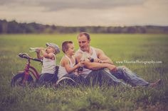 Vintage Family Coca-Cola styled shoot with a father and sons in a field. #snoqualmie #family #TAustin Photography
