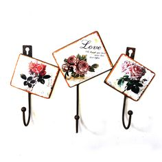 Online Shop Rose Decorative Wall Coat Hooks Vintage Wrought Iron Clothes Rack Hanging On The Door Hook Wall Hanger For Keys Hats Bags Hooks Decor, Decorating Tips, Wall Hanger, Hanging, Wall Decor, Buy Roses, Coat Hooks On Wall, Clothing Rack, How To Iron Clothes