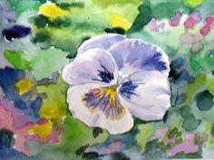 Pensée - Aquarelle - NL - Painting, Art, Water Colors, Art Background, Painting Art, Kunst, Paintings, Performing Arts, Painted Canvas
